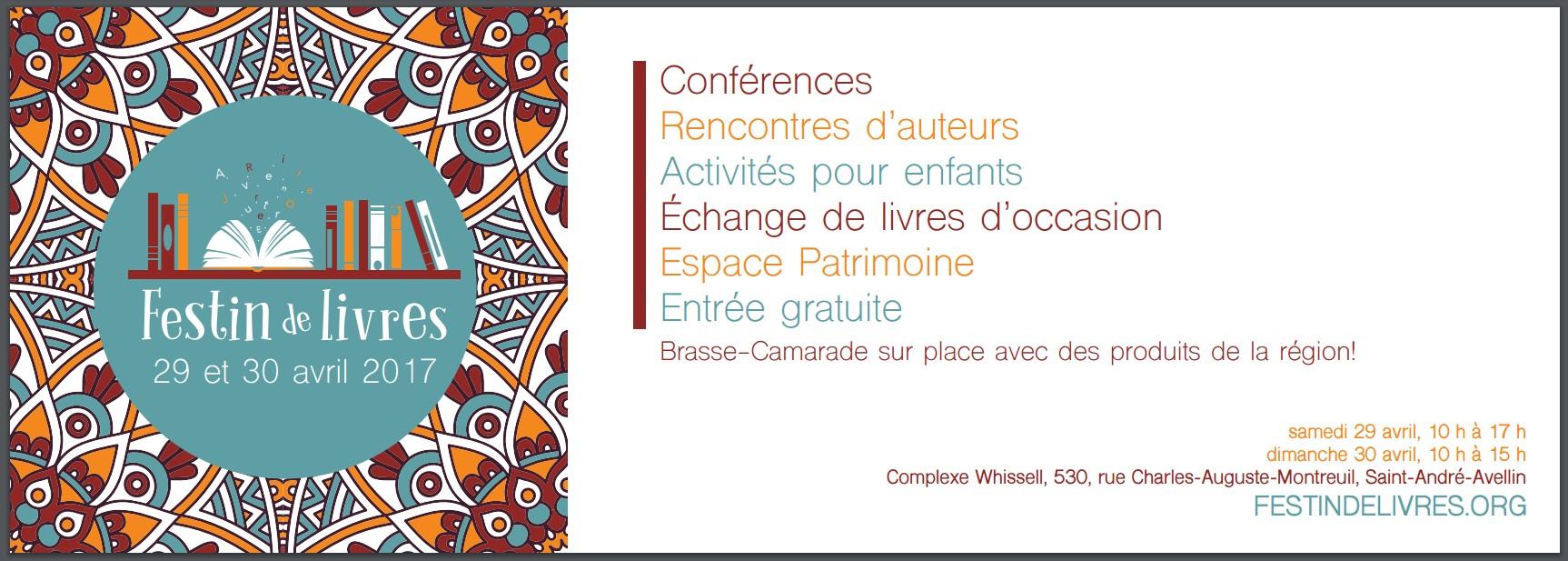 Festin de livres. Crédits : MRC Papineau